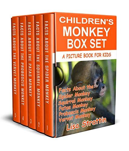 Childrens Monkey Box Set: Kids Monkey Box Set (A Picture Box Set for Kids Book 1) (English Edition)
