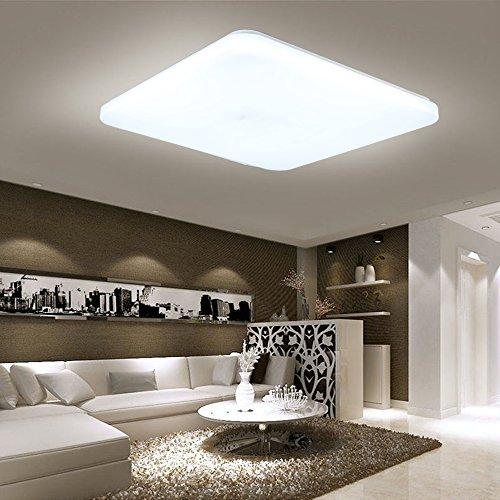 HENGMEI 36W Lámpara de techo LED Ultradelgado Plafón de techo Blanco frio LED Integrado Iluminación Interior para Pasillo Salón Cocina Dormitorio