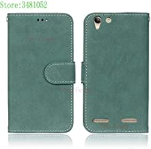 Flip Cases - Flip Phone Case for for Lenovo A6020a40 A6020a46 Vibe K5 K 5 Plus Card slot Case Leather Cover for for Lenovo A6020 a40 a46 A6020l36 bag (Green)