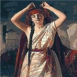 Malen Nach Zahlen Kits Ohne Rahmen Persien Tanzt Diva Tanz 16×20 Zoll Geschenk Für Erwachsene Kinder Mach Es Selbst Haus Dekor