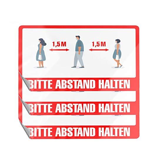 Sedax ® Bodenaufkleber Hochwertige Floorgrafik - rutschfest & Selbstklebend - 3 Modelle | Bodenmarkierung | Bitte Abstand halten Aufkleber als Hinweisschild für Fußboden & Fenster