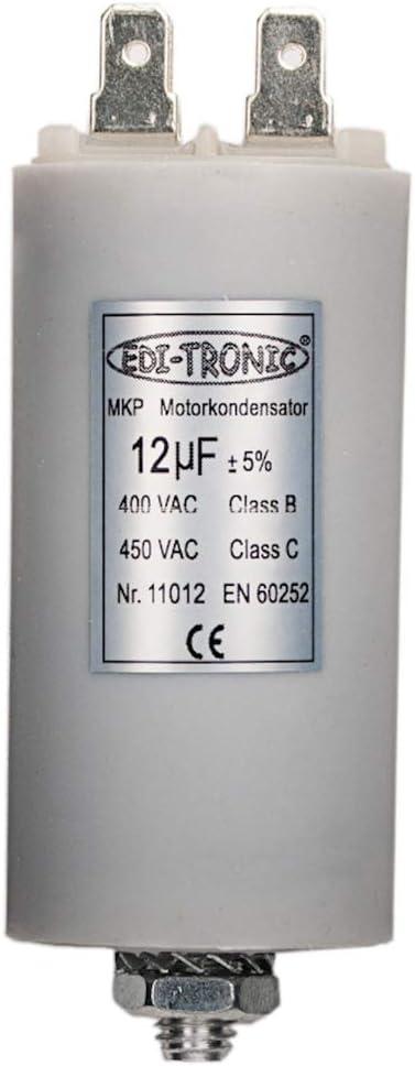 Kondensator Anlaufkondensator Motorkondensator Arbeitskondensator Kabel 14µf 450v Baumarkt