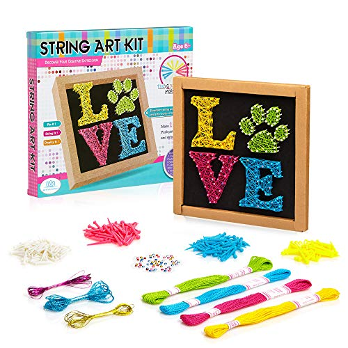 String Art Kit Craft for Kids 9-12 - DIY Canvas for Boys, Girls, Teens and...