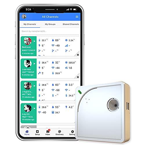 Ubibot WS1 WiFi Temperature Sensor, Wireless Thermometer Hygrometer,...