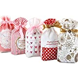 Candy Cookies Snack Pack de 50 paquetes, caja de regalo para tartas de chocolate, caja de regalo de...
