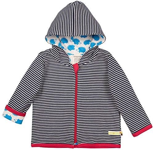 loud + proud Baby-Unisex Wendejacke aus Bio Baumwolle, GOTS Zertifiziert Jacke, Blau (Navy Ny), (Herstellergröße: 86/92)
