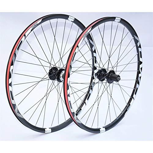 Cerchio bici Ruote MTB 26 27.5 29 pollici Mountain Bike Wheelset Doppia Parete RIMS Freno a disco 8-10S Cassette Hub 32h QR Accessorio per bicicletta per assi a sgancio rapid