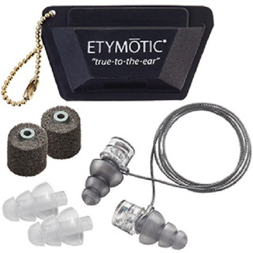 Etymotic Research ER20XS High-Fidelity Earplugs (Concerts, Musicians, Airplanes, Motorcycles, Sensitivity and Universal Hearing Protection) - Universal Fit, Standard/Large/Foam Tips
