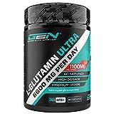 L-Glutamin - 360 Kapseln - Extra hochdosiert mit 1100 mg je Kapsel - 60 Portionen - Reines & ultrafeines L-Glutamine - Ohne unerwünschte Zusätze - Premium Qualität