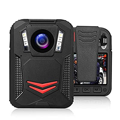 BOBLOV G2A 1440P Body Camera GPS 32G Body Mounted Wearable Camera Auto Night Vision Camera 2 Batteries File Password Protection Latest Amba H22 Chipset by BOBLOV