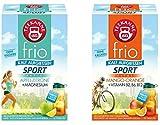 Teekanne frio Sport Doppelpack - Apfel-Zitrone und Mango-Orange mit Vitaminen (2 x 45g)