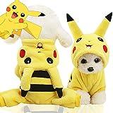MUZIWIG Ropa de perro para mascotas con capucha, disfraz de pijama para mascotas, abrigo de felpa para mascotas, Navidad, Halloween e invierno