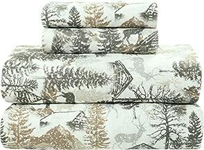 Bliss Casa 4 Piece 100% Cotton Flannel Sheet Set King - High GSM Deep Pockets, Warm Breathable Flannel Sheet Set. Flannel Bed Set Includes 1 Flat Sheet, 1 Fitted Sheet & 2 Pillowcases (Winter)