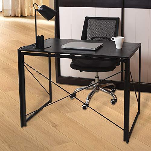 Direct Online Houseware Scrivania Pieghevole Multifunzione, Nero e Nero, 100 x 50 x 75 cm