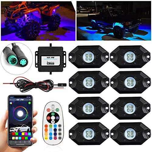 SUNPIE 8 Pods RGBW LED Rock Lights for...