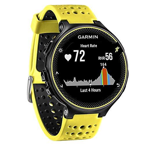 FunBand Correa para Garmin Forerunner 235, Banda de Reemplazo Silicona Suave Sports Pulsera para Garmin Forerunner 235/235 Lite/220/230/620/630/735XT/Approach S20/S5/S6 Smart Watch (Amarillo&Negro)