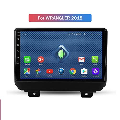 Nav Android 10.0 Car Stereo Double DIN para Jeep Wrangler 2018-2020 Navegación GPS Unidad Principal de 9 Pulgadas Reproductor Multimedia MP5 Receptor de Video y Radio con 4G WiFi DSP