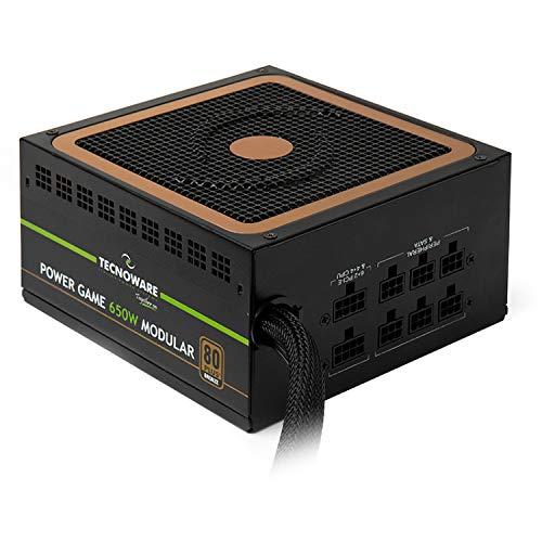 Tecnoware Alimentatore Modulare per Game PC - Elevata Efficienza (>85%), con Ventola Ultra SIlent - Potenza 650 W