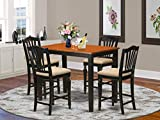 5 Pc Dining counter height set - Kitchen dinette Table and 4 counter height stool.