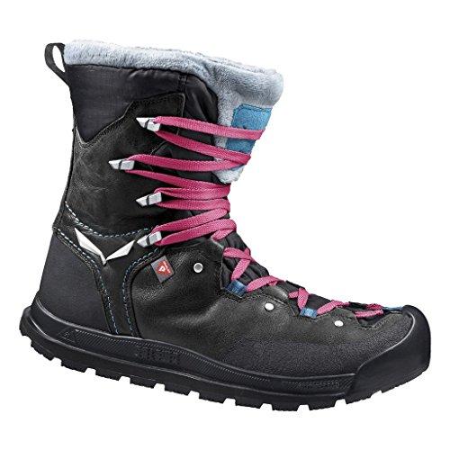 Salewa Damen Snowcap Waterproof-HALBHOHER Winterstiefel Trekking- & Wanderstiefel, Schwarz (Black/Pagoda 0967), 42 EU