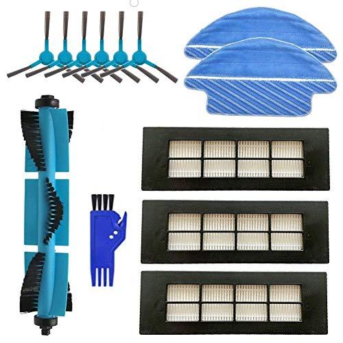 MTKD® Kit para Cecotec Conga Serie 3090 Accesorios Cepillo Central, Cepillos Laterales, Filtros EPA y Mopas para Aspiradora Robot Conga 3090.