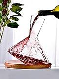 Decantador, 1L Jarra Del Vino |Sin Plomo De Cristal De Aireación Del Vino De La Jarra |Perfect Gift Set |Regalos Del Vino, Accesorios Del Vino, Bar Utensilios - Aireador, Filtro, Vertedor