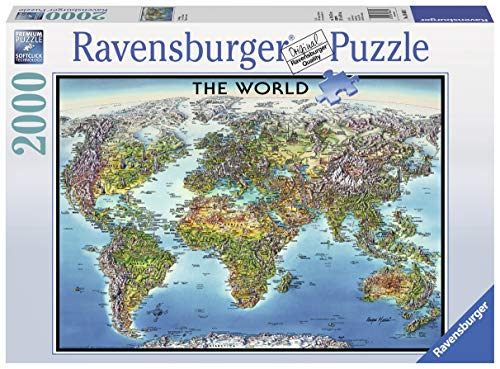 Ravensburger 16683 Puzzle World Map, Mehrfarbig, 38.5