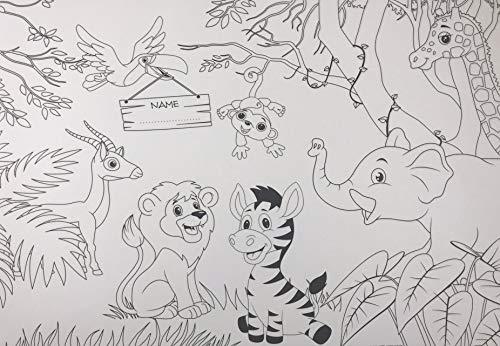 Jungle Farbe Seite Einweg Papier Tischsets - 100 Stück