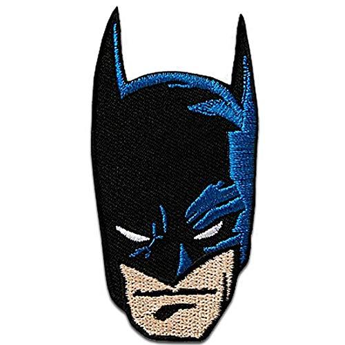 Parches - Batman cabeza - negro - 4x8cm - termoadhesivos bordados aplique para ropa