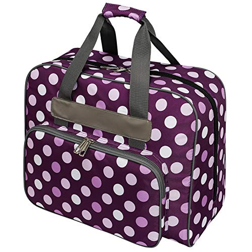 Coopay Sewing Machine Bag, Home Sewing Supplies Organiser, Storage Bag for Needles, Thread, Scissors and Accessories, Travel Sewing Machine Carrying Case, 48×24×32 cm, Large, Waterproof, Purple