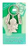 Depesche 7518-009 Schutzengel Schlüssel-Anhänger aus Metall, Glücksbringer mit Engel, Schlüsselring und liebevoller Botschaft, zum Verschenken an Familienmitglieder, Freunde und Bekannte
