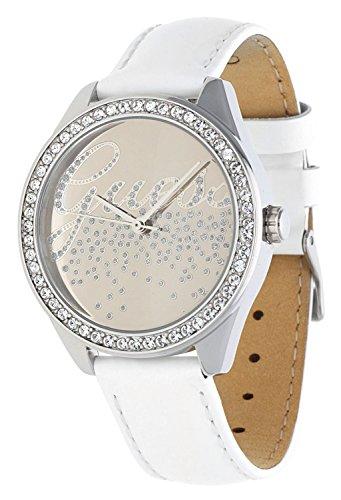Guess Reloj Análogo clásico para Mujer de Cuarzo con Correa en Acero Inoxidable W0201L1