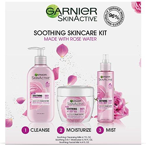 Garnier SkinActive Soothing Skincare Kit Rose Water Naturals Soothing Kit, Rose