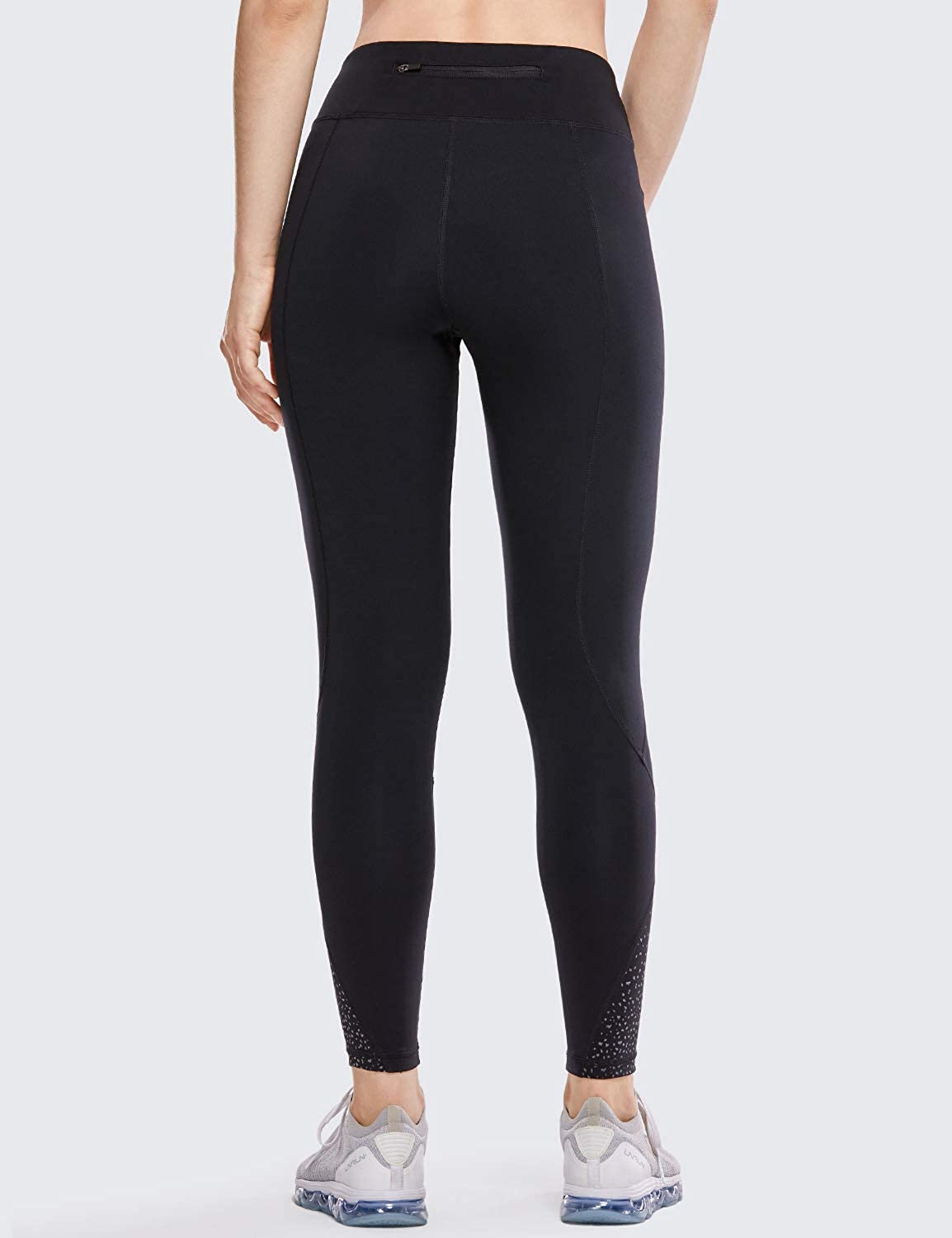 CRZ YOGA Non See-Through Mid Rise Athletic Compression Leggings Women 7//8 Length Hugged Feeling Workout Tights-25 Inches