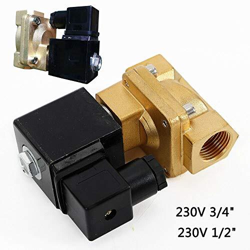 Messing Magnetventil für Druckluft, neutrale Gase, Wasser, neutrale dünnflüssige Medien, Direktgesteuert Brass Solenoid Valve 220 V (3/4