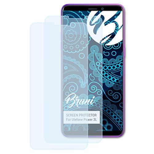 Bruni Schutzfolie kompatibel mit Ulefone Power 3L Folie, glasklare Bildschirmschutzfolie (2X)