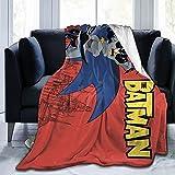 Bat-Man - Manta de franela para cama, manta de forro polar suave, manta de aire acondicionado, para sofá, sala de estar, dormitorio, 127 x 101 cm