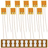 Youmile 10PCS BF120-3AA 120ohm Medidor deformación alta precisión de resistencia a la presión Medidor deformación de lámina para sensor presión, celda carga con terminal medidor deformación 10PCS
