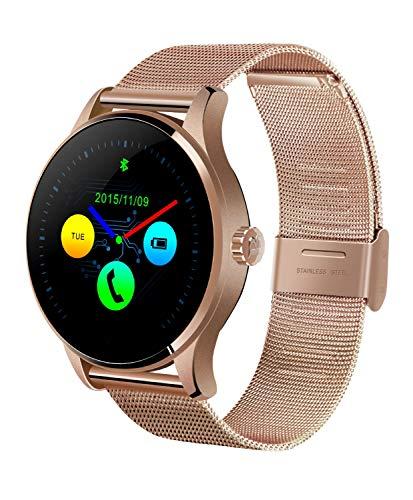 Smartwatch, unterstützt mehrsprachiges hochauflösender, kapazitiver Bildschirm, ultradünner Körper, Stimmfunktion, wasserdicht, geeignet zum Laufen, Radfahren, Schwimmen und Wandern (Farbe: Rosa)