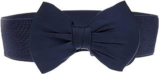 SportsWell Women's Fashionable Bowknot Wide Belt Girls Lady Stretch Cinch
