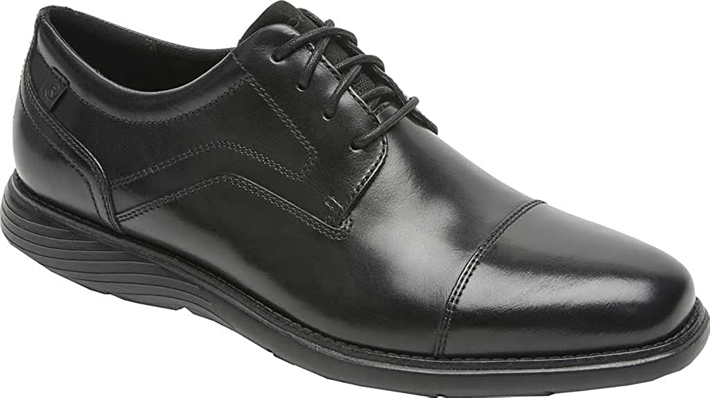 Rockport Men's Garett Cap Toe M Leather 2021 Year-end annual account Black 10.5 Oxford