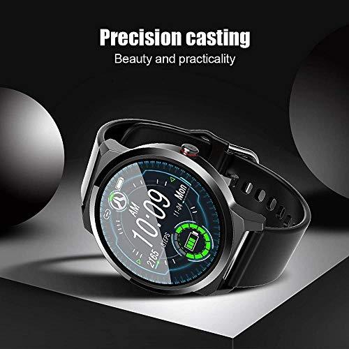 SHIJIAN Reloj inteligente de pantalla a color, simple información de hombres y mujeres sedentario recordatorio ip67 exquisito reloj, señoras regalo-negro_acero