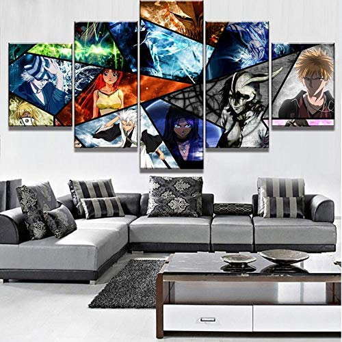 Hd Print Canvas Bleach Paintings Home Decoration Wall Art Modular Japanese Anime Role Pictures Modern Posters Bedroom-with Frame