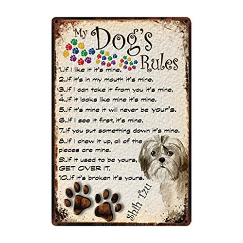 Ami0707 Plaque Vintage Portly Pug Pub Dogs Metal Tin Signs Life Is Better With A Westie Beware Of Dog Poster Home Decor Bar Wall Art Paintings 20x30cm y2582