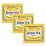 Kusmi Tea Té verde aromatizado con pomelo, yerba mate, hinojo y diente de león - 3 x 20 bolsitas de té (132 gramos)