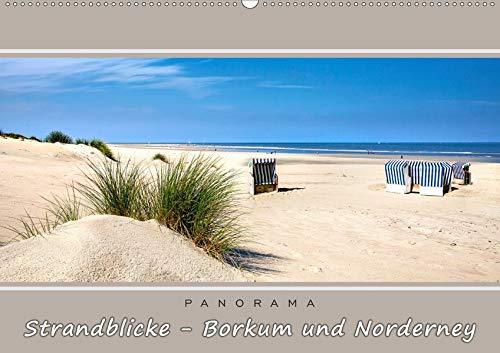 Strandblicke Borkum und Norderney (Wandkalender 2021 DIN A2 quer): Atemberaubende Panorama-Strandbilder (Monatskalender, 14 Seiten )