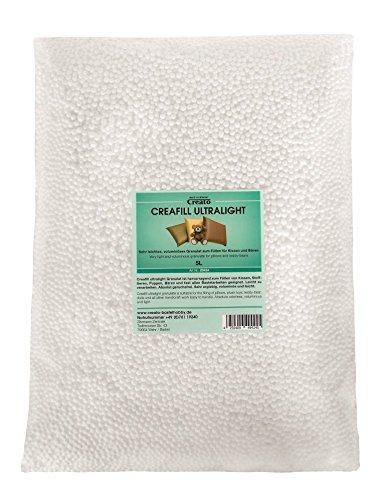 Creato Creafill Ultralight 5 L Granulat Füllmaterial, Styropor, Weiß, 40 x 30 x 8 cm