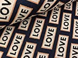 Albstoffe Hamburger Liebe Jacquard Sparkle Love Blue