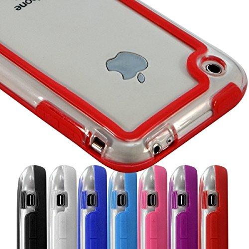 Seluxion - Marco protector para iPhone 5 y 5S, color rojo