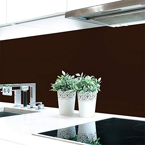Graz Design - Pannello posteriore per cucina, in PVC duro, 0,4 mm, autoadesivo, colore: Marrone, marrone cioccolato, 220 x 60 cm
